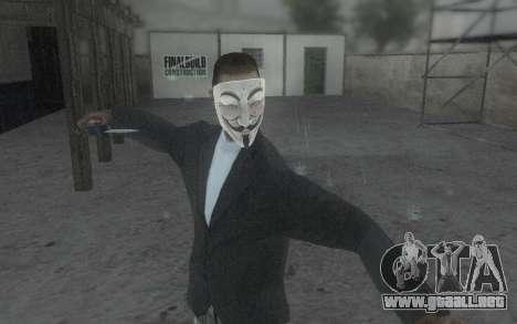 DayZ Mask para GTA San Andreas sucesivamente de pantalla