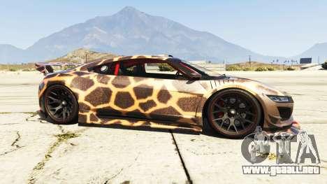 GTA 5 Dinka Jester (Racecar) Cheetah vista lateral izquierda