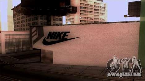 New Shop Nike para GTA San Andreas segunda pantalla