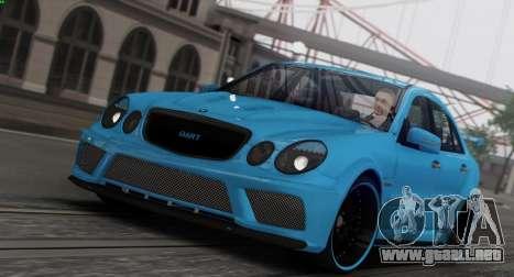 Mercedes-Benz E63 Qart Tuning para GTA San Andreas interior
