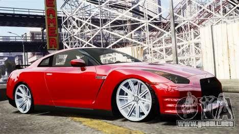Nissan GT-R AMS 2012 para GTA 4 vista hacia atrás