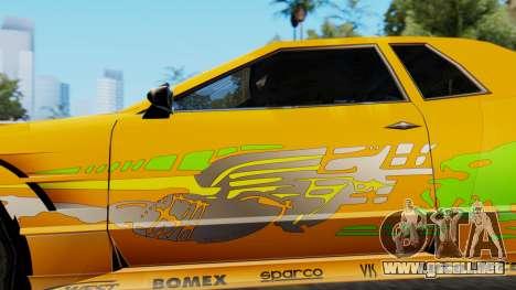Elegy Supra PJ para GTA San Andreas vista posterior izquierda
