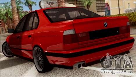 BMW M5 E34 BUFG Edition para la visión correcta GTA San Andreas