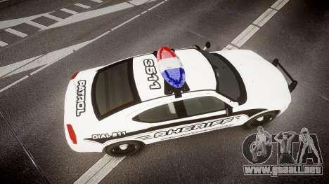 Dodge Charger 2010 New Alderney Sheriff [ELS] para GTA 4 visión correcta