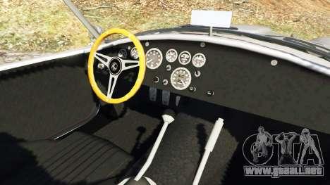 GTA 5 AC Cobra [Beta] vista lateral trasera derecha