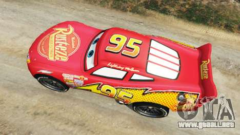 GTA 5 Lightning McQueen [Beta] vista trasera