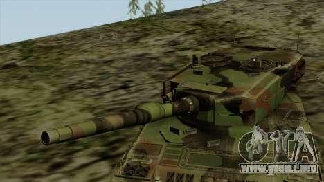 Leopard 2A4 para GTA San Andreas vista hacia atrás