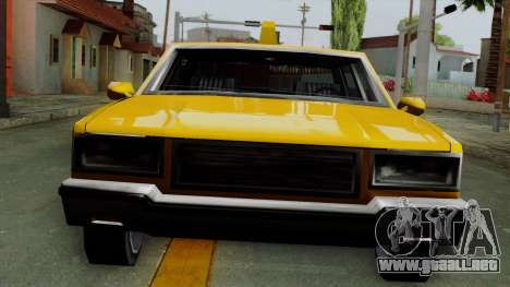 Classic Taxi Los Santos para GTA San Andreas vista posterior izquierda
