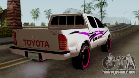 Toyota Hilux 2014 para GTA San Andreas left