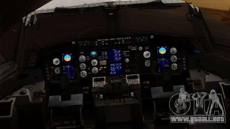 Boeing C-32 Air Force Two para GTA San Andreas vista hacia atrás