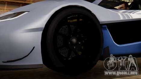 Progen T20 GTR para GTA San Andreas vista posterior izquierda