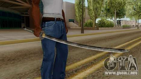 Original HD Katana para GTA San Andreas