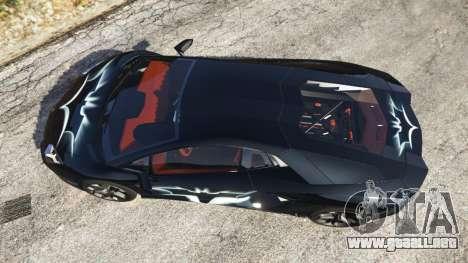 GTA 5 Lamborghini Aventador LP700-4 Batman v2 vista trasera