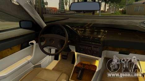 BMW 535i E34 1993 para GTA San Andreas vista hacia atrás