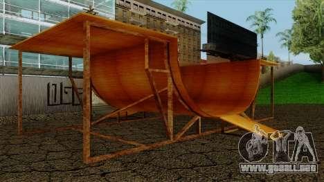 HD Skate Park para GTA San Andreas segunda pantalla