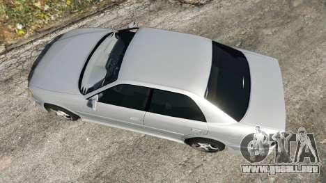 GTA 5 Toyota Chaser 1999 v0.3 vista trasera