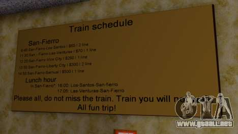 La estación en San Fierro Final para GTA San Andreas quinta pantalla
