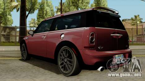 Mini Cooper Batik PaintJob para GTA San Andreas left