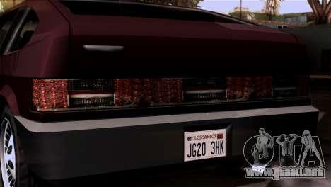Nuevos faros delanteros para GTA San Andreas sucesivamente de pantalla