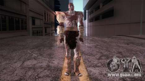 God Of War 3 Kratos Blood para GTA San Andreas segunda pantalla