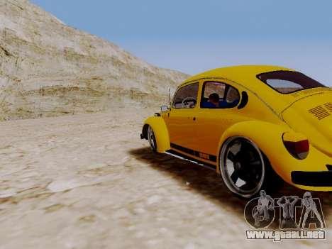 Volkswagen Escarabajo 1975 Jeans Edición Persona para GTA San Andreas vista posterior izquierda