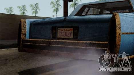 GTA 5 Albany Emperor Worn para la visión correcta GTA San Andreas