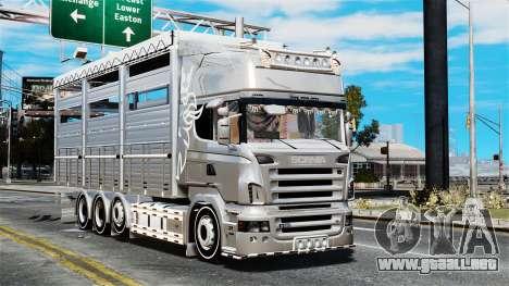Scania R580 para GTA 4 vista hacia atrás
