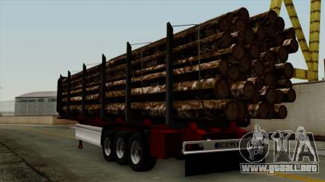 Trailer Fliegl v2 para GTA San Andreas left