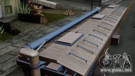 Trailer Silos para GTA San Andreas vista hacia atrás