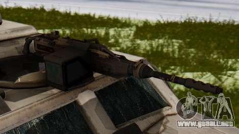 BAE Systems JLTV para GTA San Andreas vista hacia atrás