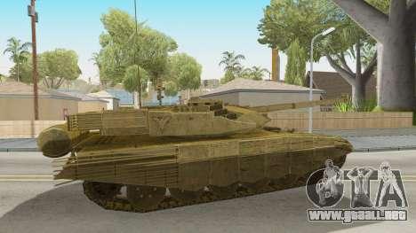 T-90MS CoD Ghost para GTA San Andreas vista posterior izquierda