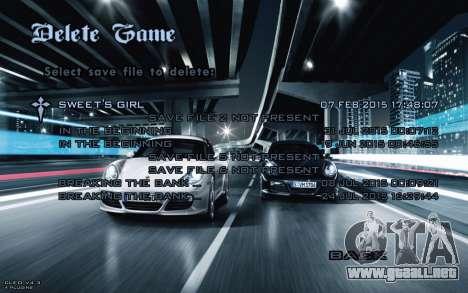 Night Menu para GTA San Andreas octavo de pantalla