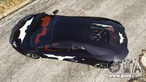 GTA 5 Lamborghini Aventador LP700-4 Batman v1 vista trasera