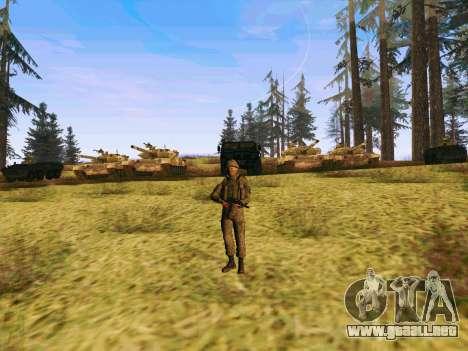 Pak combatientes de las tropas especiales del GR para GTA San Andreas quinta pantalla