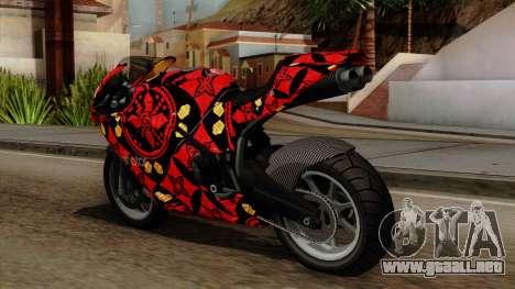 Bati Batik para GTA San Andreas vista posterior izquierda