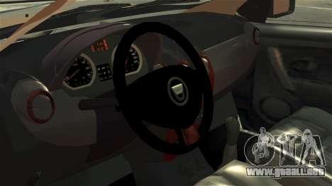 Dacia Logan MCV Stepway 2014 para GTA 4 vista hacia atrás