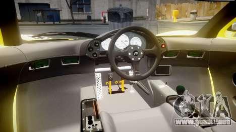 McLaren F1 1993 [EPM] Harrods para GTA 4 vista hacia atrás