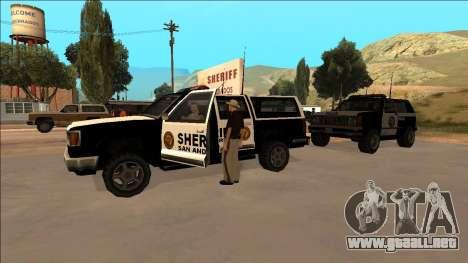 DLC Big Cop and All Previous DLC para GTA San Andreas sucesivamente de pantalla