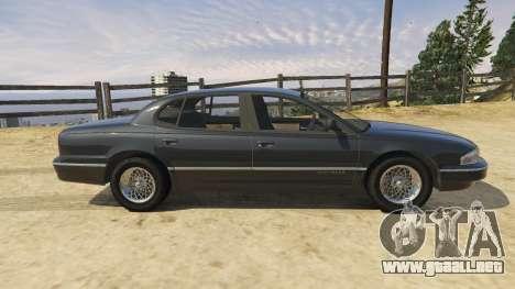 GTA 5 1994 Chrysler New Yorker vista lateral izquierda trasera