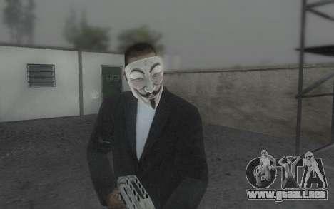 DayZ Mask para GTA San Andreas tercera pantalla