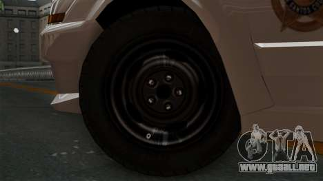GTA 5 Sheriff Car para GTA San Andreas vista posterior izquierda
