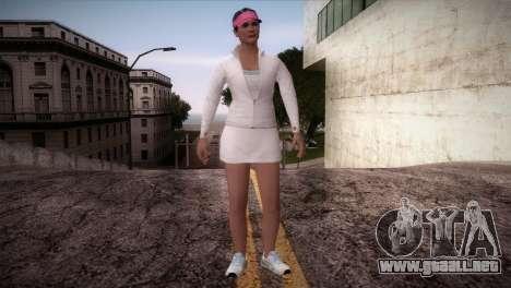 GTA 5 Amanda De Santa Tennis Skin para GTA San Andreas segunda pantalla