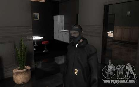 GTA5 Gasmask para GTA San Andreas séptima pantalla
