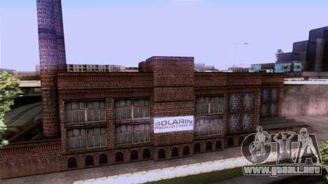 HQ Textures San Fierro Solarin Industries para GTA San Andreas