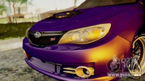 Subaru Impreza WRX STI 2008 para la visión correcta GTA San Andreas