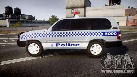 Toyota Land Cruiser 100 2005 Police [ELS] para GTA 4 left