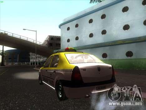 Dacia Logan Taxi UNIVIP para GTA San Andreas left