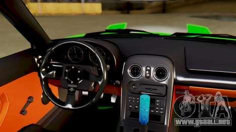Mazda MX-5 BnSports para la vista superior GTA San Andreas
