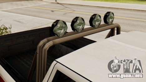 Chevrolet Silverado SA de Estilo para GTA San Andreas vista posterior izquierda