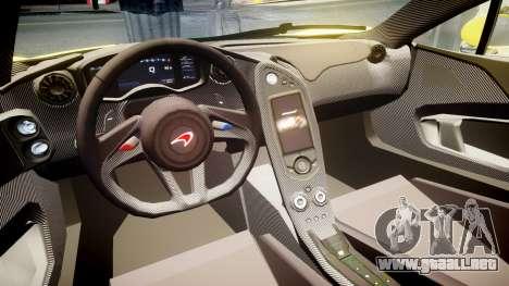 McLaren P1 2014 [EPM] Harrods GTR para GTA 4 vista hacia atrás